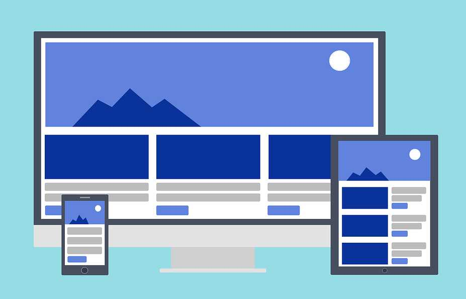 responsive website design typical layout
