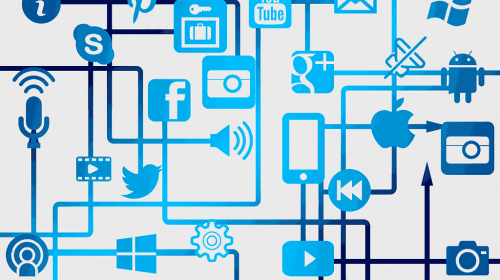 website network connections with social media