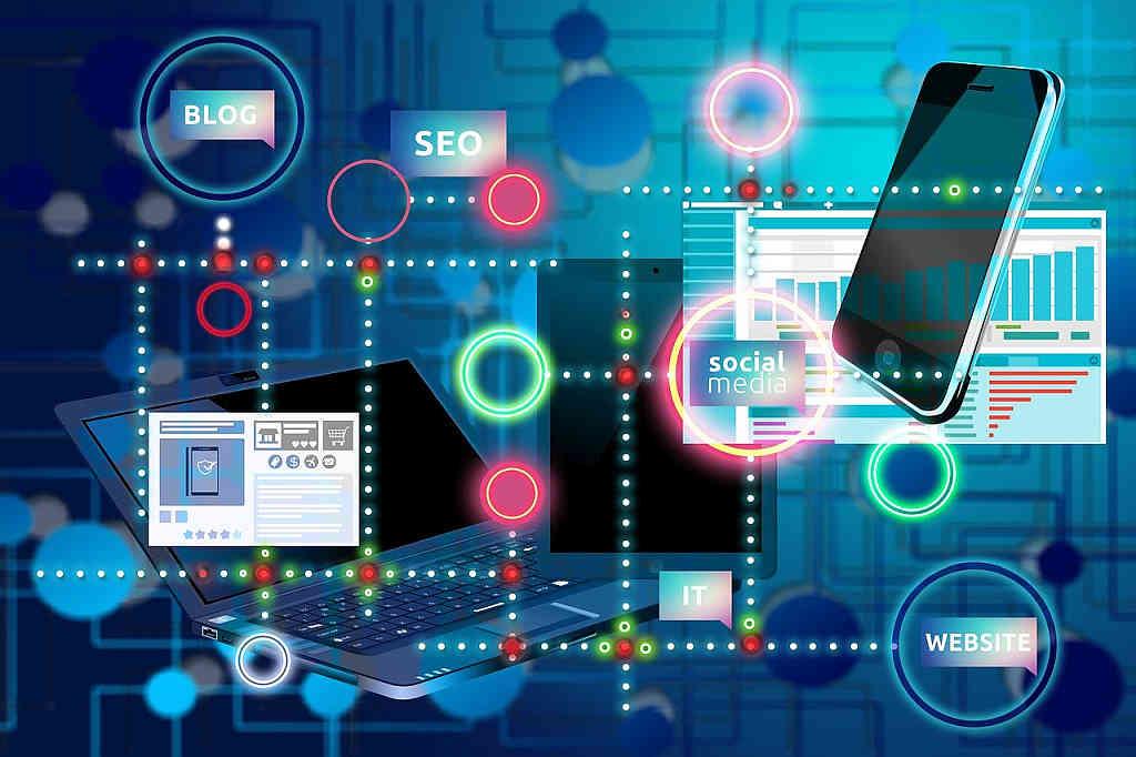 graphic representation of various social media connectors