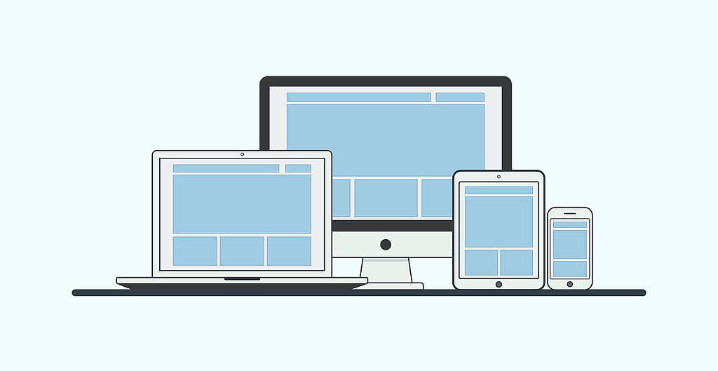 website layouts on different screen sizes